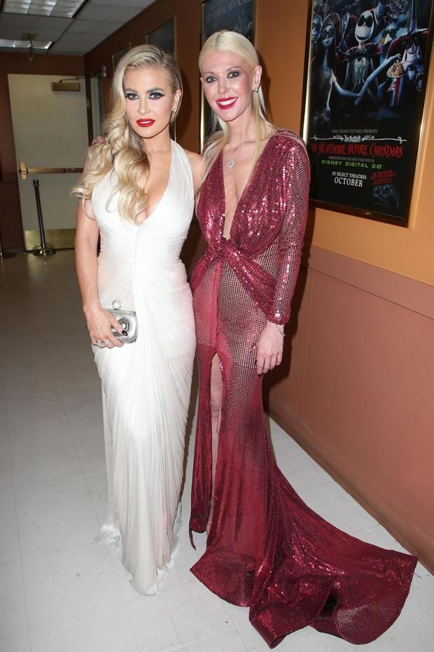 Carmen Electra e Tara Reid (Foto: BackGrid)