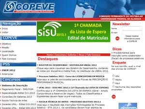 Lista esta disponivel no site da Copeve (Foto: Reprodução)