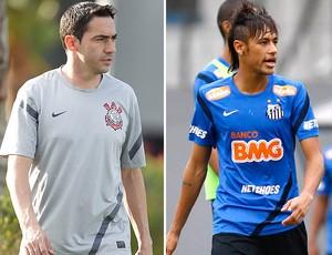 Chicão, Neymar, Corinthians, Santos (Foto: Editoria de arte / Globoesporte.com)