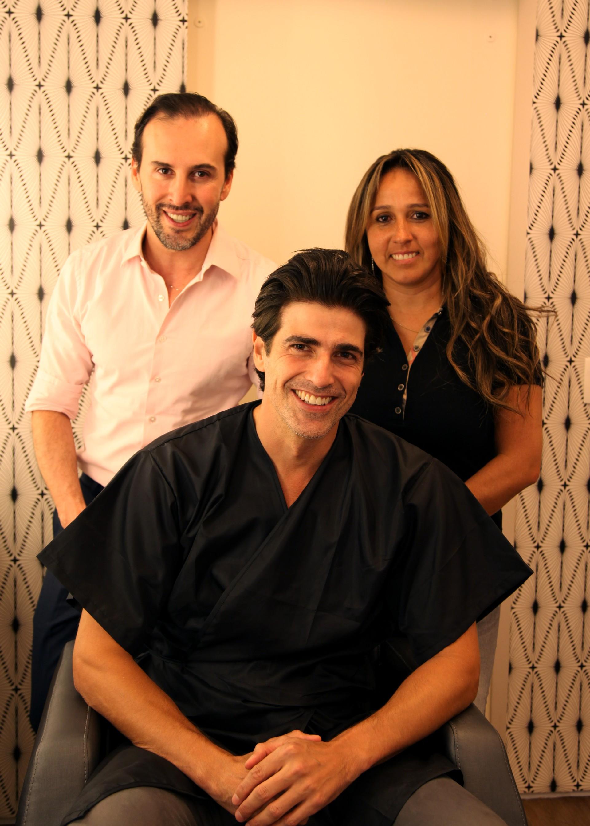 Marcos Proença, Reynaldo Gianecchini e Rosângela Araújo (Foto: Divulgação)