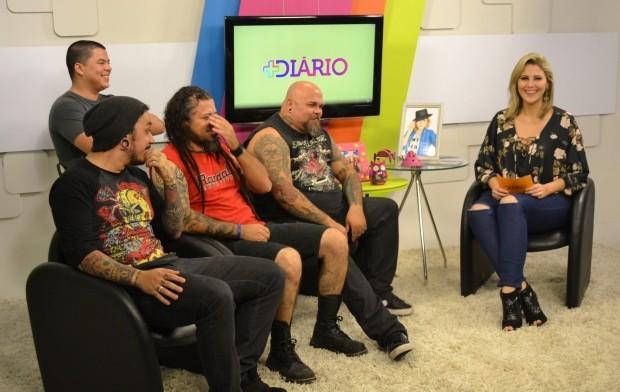 Neste sábado (11) Mais Diário recebe a banda 'Skin Culture'  (Foto: Reprodução TV Diário)