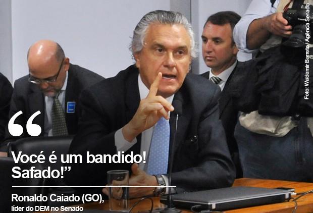 Card do líder do DEM no Senado, Ronaldo Caiado (Foto: Waldemir Barreto / Agência Senado)