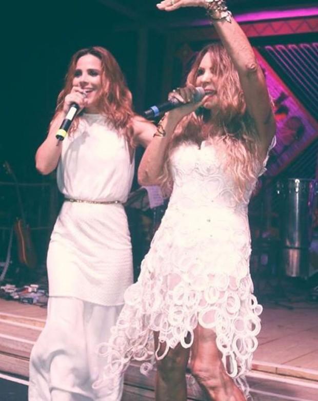 Wanessa canta com Elba em Trancoso (Foto: Reprodução/Instagram)