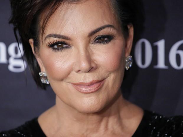 Kris Jenner em evento em Nova York, nos Estados Unidos (Foto: Kena Betancur/ AFP)