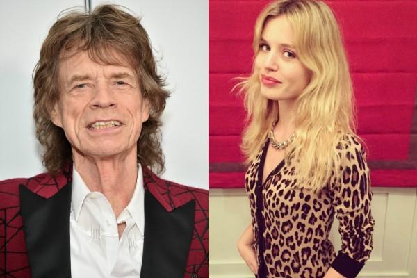 Mick Jagger e Geogia May (Foto: Getty Images/Reprodução Instagram)