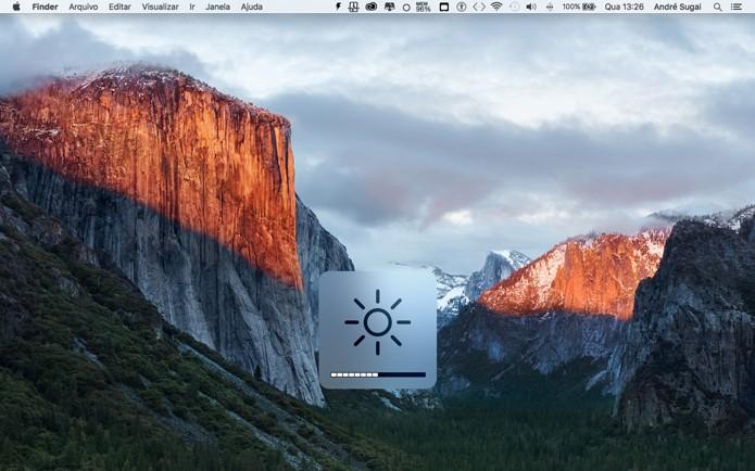 Veja como ajustar manualmente e automaticamente o brilho de tela do seu Mac (Foto: Reprodução/André Sugai)