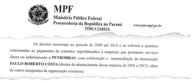 Segundo a denúncia do Ministério Público Federal, os desvios ocorreram de 2009 até este ano (Foto: Reprodução)