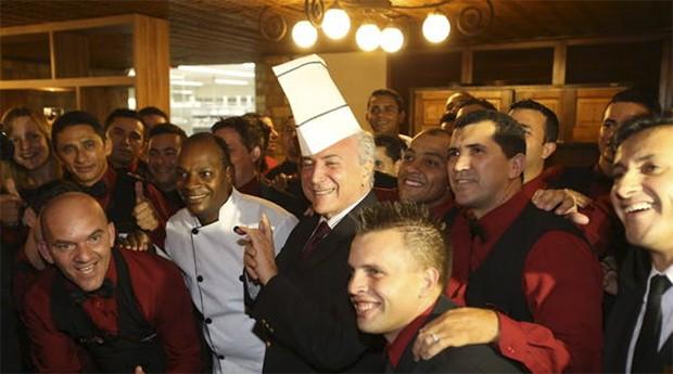Michel Temer: jantar foi em restaurante de carne importada (Foto: Estadão Conteúdo)