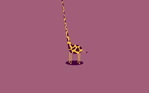 girafa engraçada