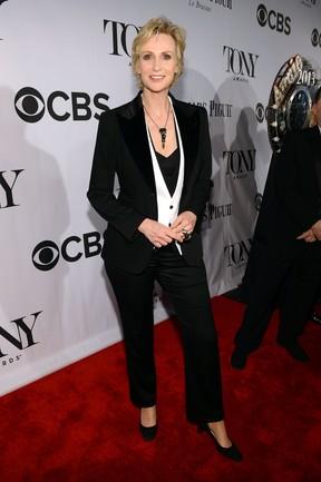 Jane Lynch no Tony Awards, em Nova York, nos Estados Unidos (Foto: Larry Busacca/ Getty Images/ AFP)