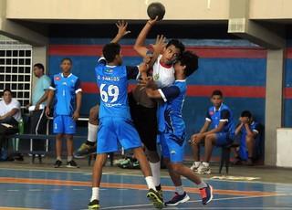 Handebol nos Jogos Escolares Maranhenses (JEMs) (Foto: Biaman Prado/Sedel)
