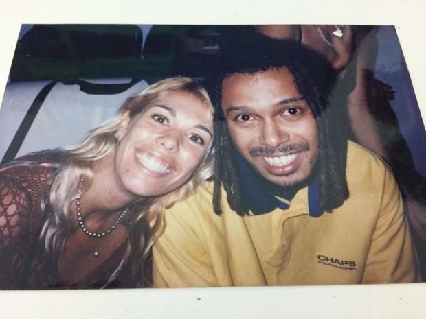 Thiene Silveira e Marcelo Falcão em Salvador (Foto: Arquivo pessoal)
