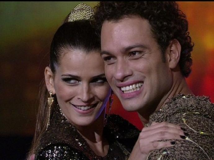 Fernanda Motta, que participou do quadro em 2012 (Foto: Domingão do Faustão/TV Globo)