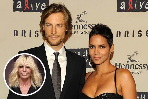 Gabriel Aubry, Halle Berry e Donatella Versace (Foto: Getty Images)