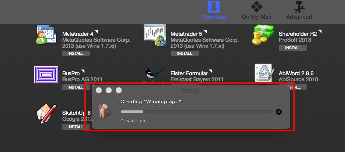WineBottler instalando o programa (Foto: Reprodução/Edivaldo Brito)