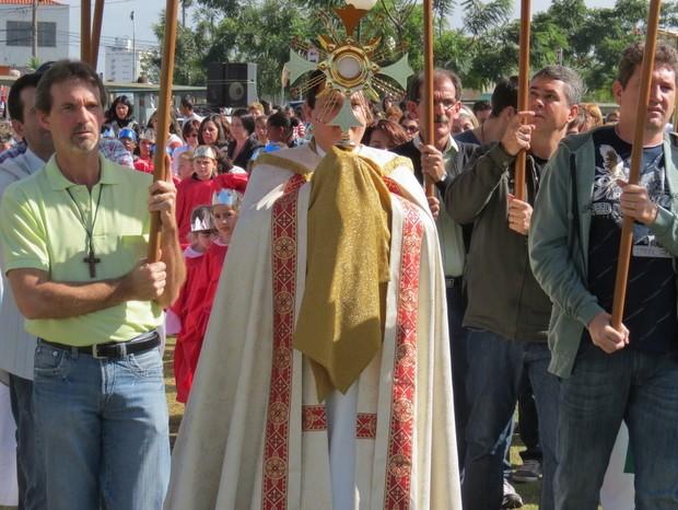 Corpus Christi em Piracicaba (Foto: Tiago Canale/ Paróquia de São José)