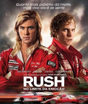 Poster original do filme Rush, com os atores que representam James Hunt e Niki Lauda no cinema (Foto: Divulgação)