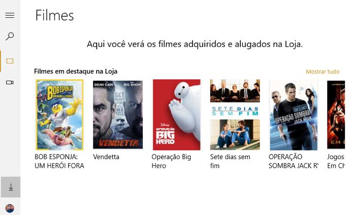 Aplicativo de Filmes e TV encoraja aluguel e compra de conteúdo (Foto: Reprodução/Paulo Alves)