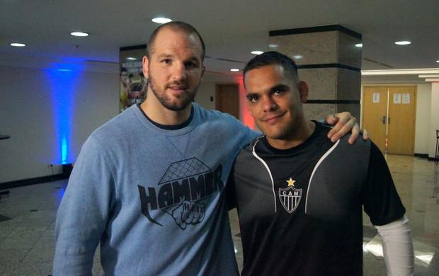 Matt Hamill e Bruno Tostes UFC MMA (Foto: Ivan Raupp)