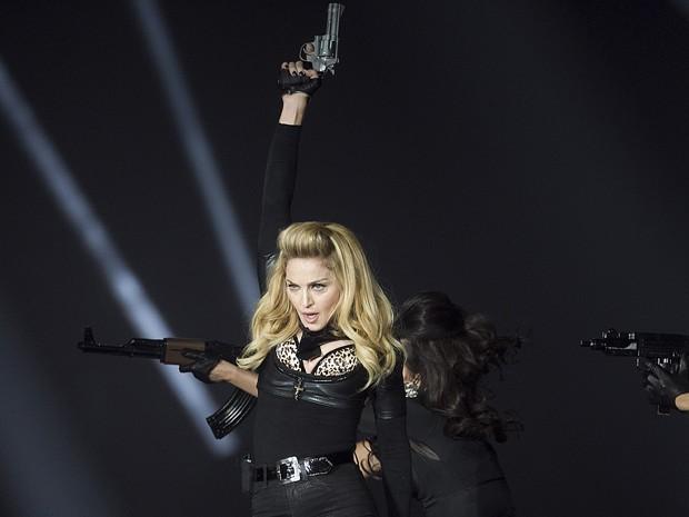 Madonna canta na Dinamarca (Foto: AP/Miriam Dalsgaard)