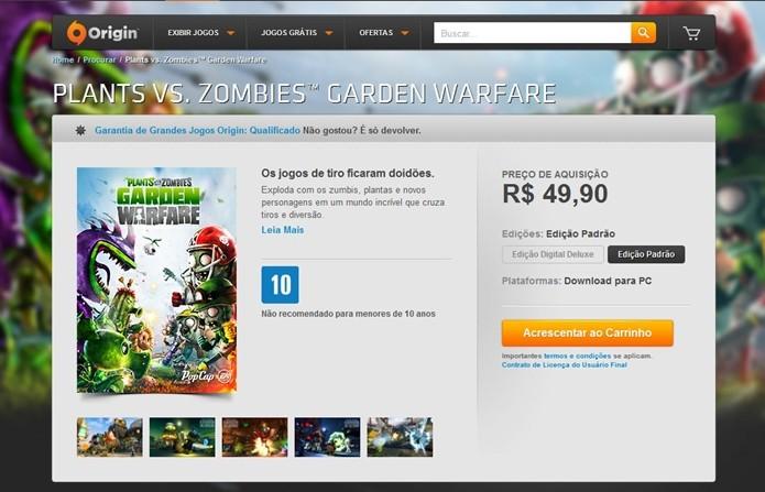 Compre o jogo na loja do Origin (Reprodução/Cássio Barbosa)