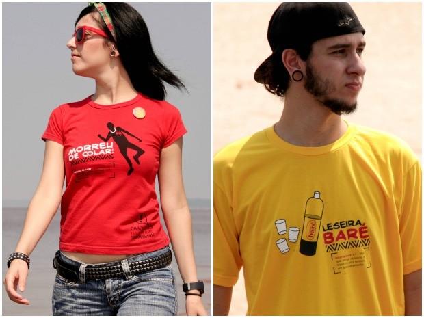 Camisetas misturam o bom humor com expressões regionais (Foto: Divulgação/Caboquês Ilustrado)
