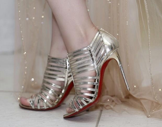Detalhes dos sapatos de Fernanda Keulla (Foto: Telma Terra)