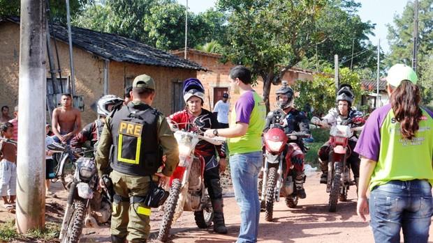 Barreia Polícia Rodoviária Estadual - rallye do sol (Foto: Moisés Henrique/Arquivo pessoal)