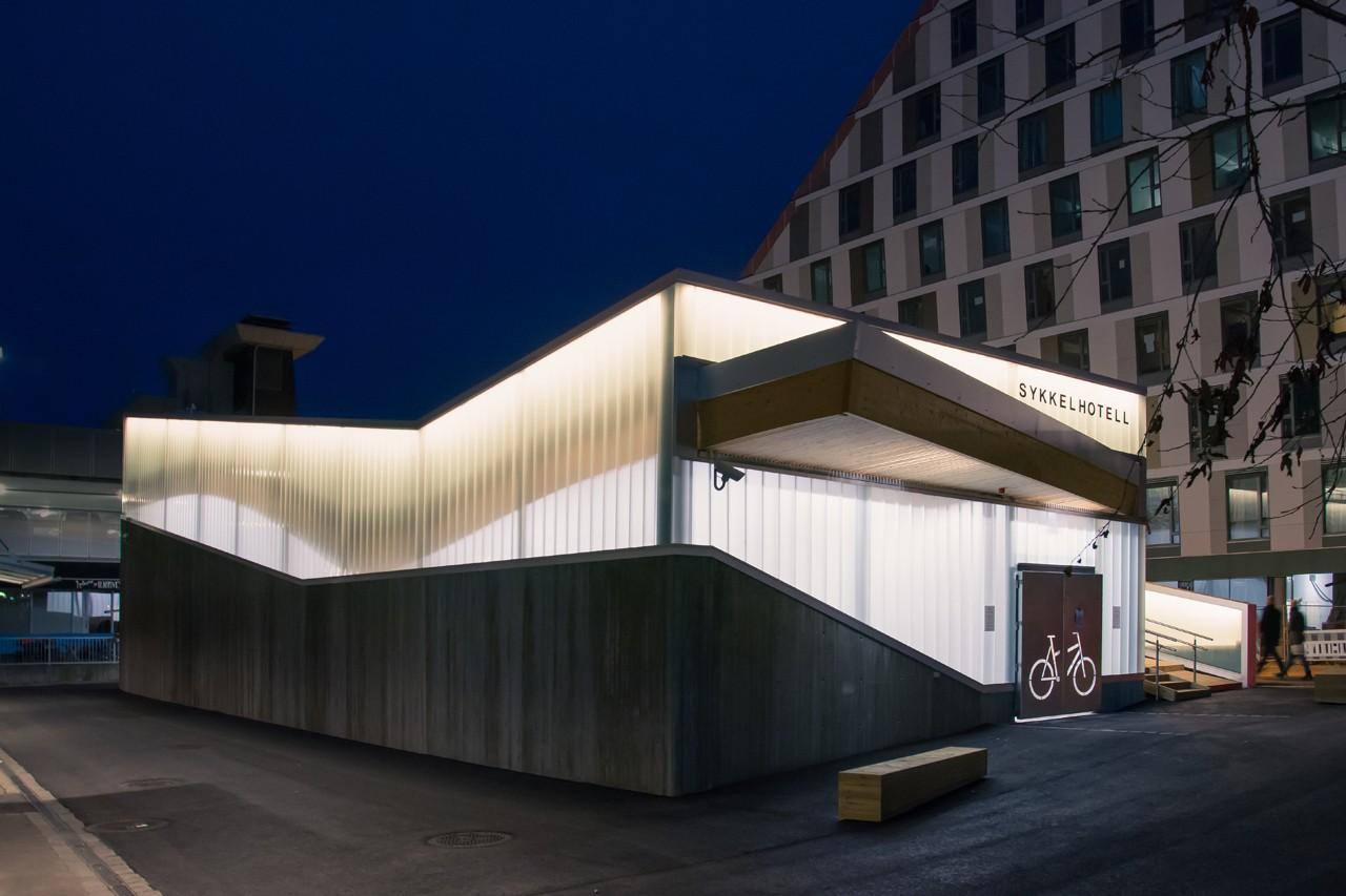Hotel para bicicletas na Noruega (Foto: Divulgação/Various Architects)