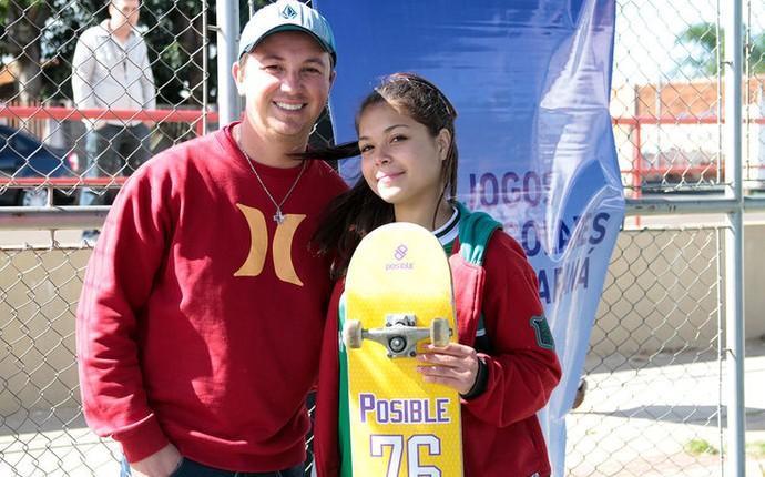Mariele Barros skate Jogos Escolares (Foto: Diego Pereira/Jogos Escolares do Paraná)