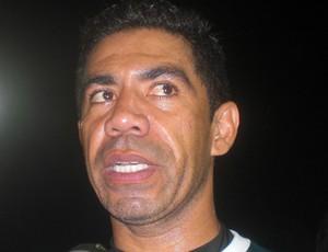 Jefferson, goleiro do Horizonte, comemora vitória contra o Flu  (Foto: Thaís Jorge )