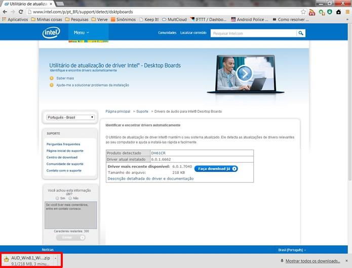 Baixe o instalador da atualização de seu firmware e descompacte-o em uma nova pasta (Foto: Reprodução/Daniel Ribeiro)