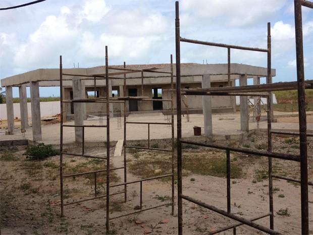 Segundo MPF, construção de escola da aldeia Brejinho se encontra abandonada (Foto: Divulgação/MPF-PB)
