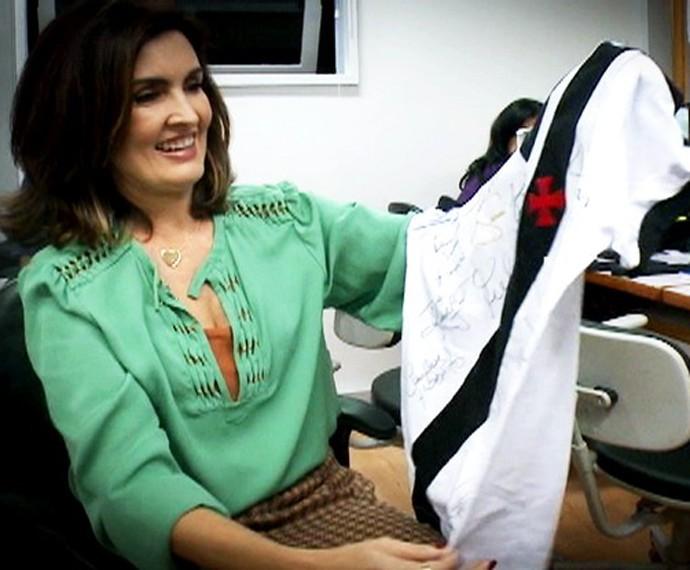 Fátima é torcedora do Vasco (Foto: Gshow/Encontro com Fátima)