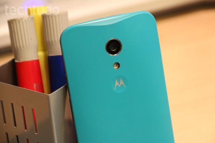 Moto G apresenta Android com menos alterações do que smart da Samsung (Foto: Reprodução/Barbara Mannara)