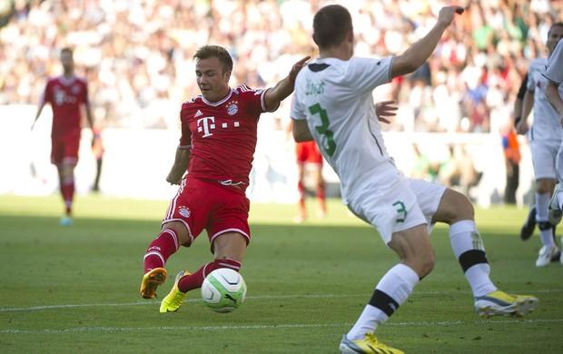 Gotze Bayern de Munique e gyor (Foto: Agência EFE)