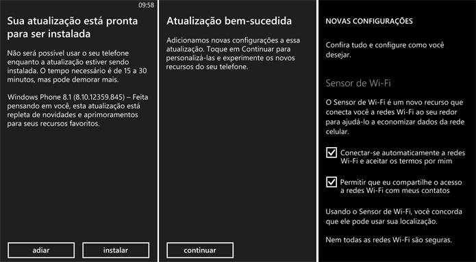Windows Phone 8.1 pode demorar cerca de duas horas para ser instalado (Foto: Reprodução/Elson de Souza)