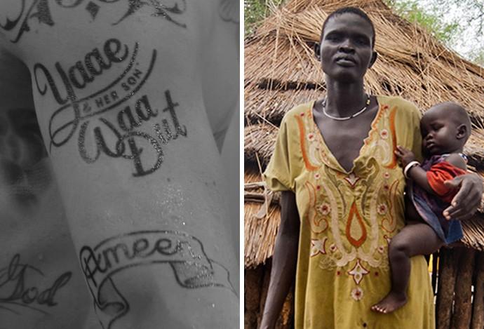 Ibrahimovic tatuagem Yaae (Foto: Reprodução)