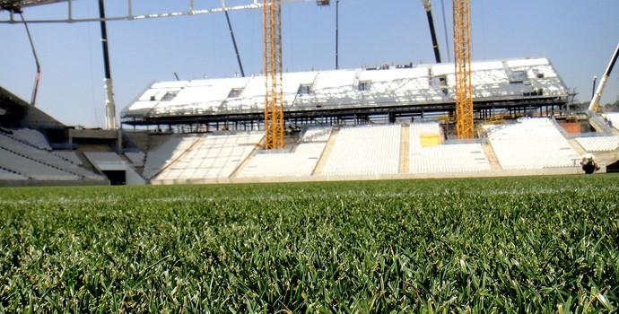gramado da Arena Corinthians (Foto: Alexandre Lozetti)