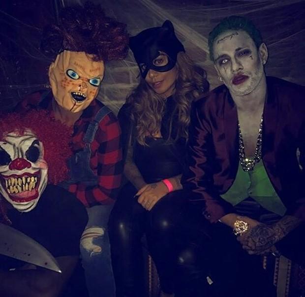 Neymar e a irmã, Rafaella Santos, curtem festa de Halloween (Foto: Reprodução/Instagram)