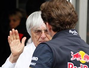 Bernie Ecclestone e Christian Horner, F1, GP do Canadá (Foto: Agência AP)