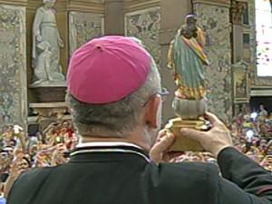 Descida do Glória, Basílica Santuário, Belém (Foto: Reprodução/TV Liberal)