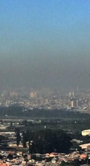 Poluição atmosférica em São Paulo (Foto: Divulgação/SOS Mata Atlântica)