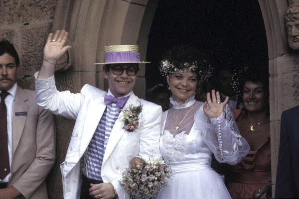 Elton John e Renate Blauel (Foto: Getty Images)