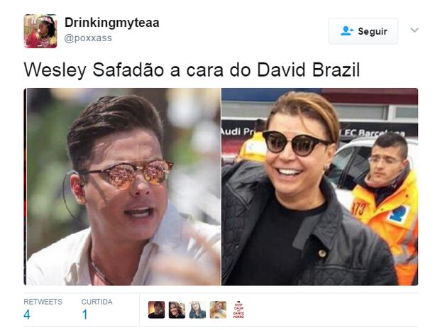 Novo visual de Wesley Safadão gera memes (Foto: Reprodução/Twitter)