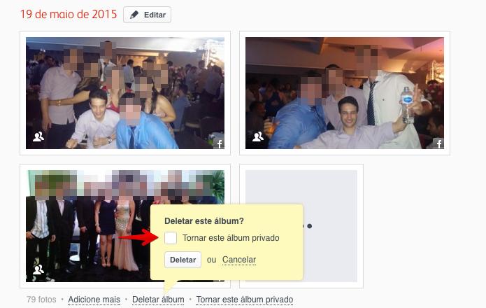 Apagando álbum com várias fotos (Foto: Reprodução/Helito Bijora)