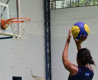 São José Basquete Feminino treino (Foto: Danilo Sardinha/GloboEsporte.com)