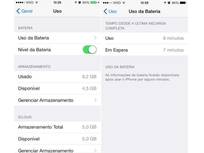 Uso da bateria agora vem detalhado (Foto: Reprodução/Thiago Barros)