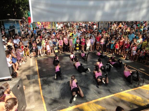 Em Umuarama, a diversão rolou no Bosque Uirapuru (Foto: Divulgação/RPC TV)