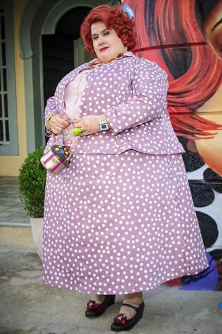 Dona Redonda pesa nada menos que 250 quilos! (Foto: Alex Carvalho/Globo)